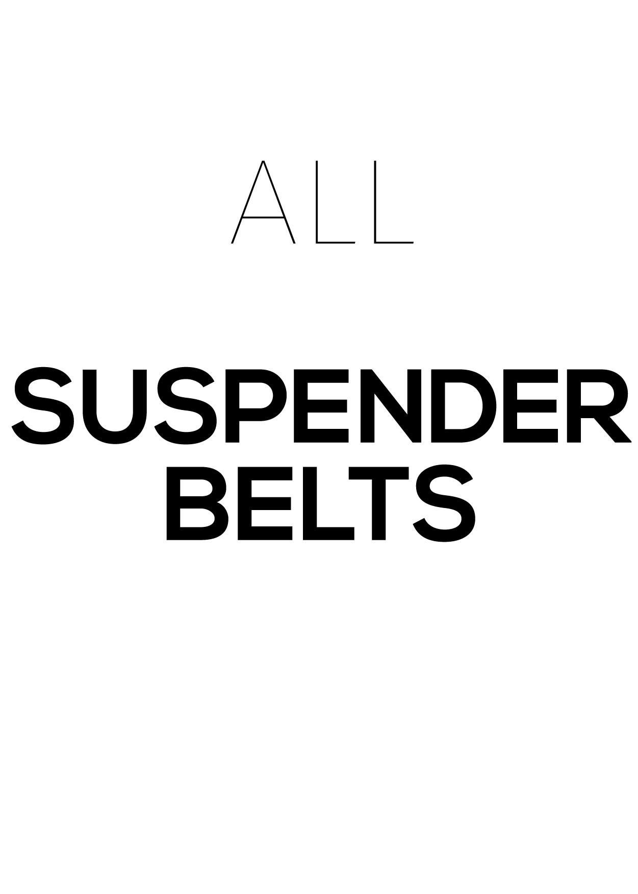 All Suspender Belts