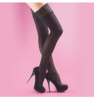 40 Den Opaque Lace Top Hold Ups