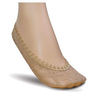 Lace Cushion Sole Footlets 1pp