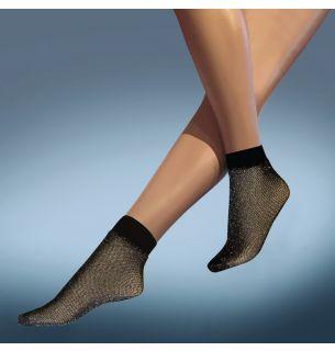 Fishnet Lurex Ankle Highs