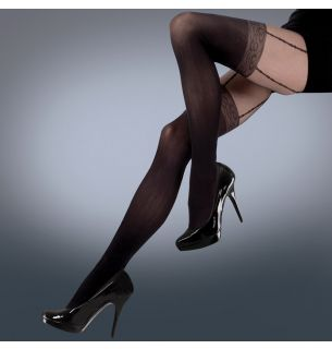 Mock Lace Suspender Tights