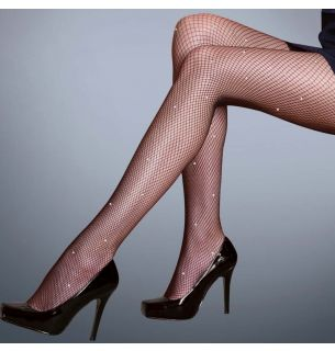 Diamante Fishnet Tights