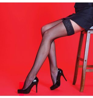 Fishnet Lace Hold Ups