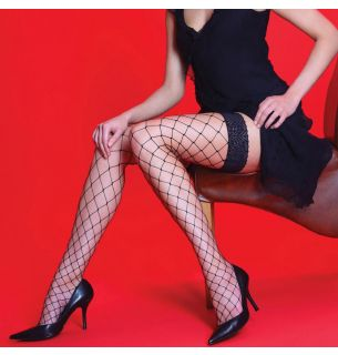 Whale Net Lace Hold Ups