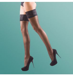 Shine Lace Top Hold Ups