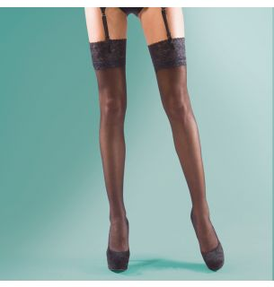 Shine Lace Top Stockings