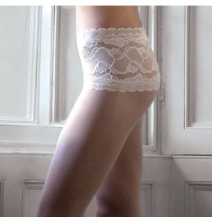 Soft and Sheer Lace Top Tights
