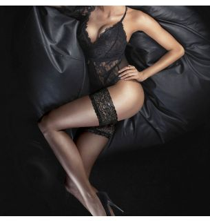 Ultra Gloss Lace Top Hold Ups