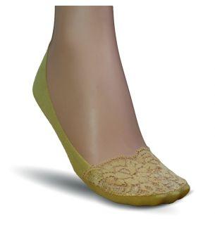 Lace Toe Cotton Footlets 2pp