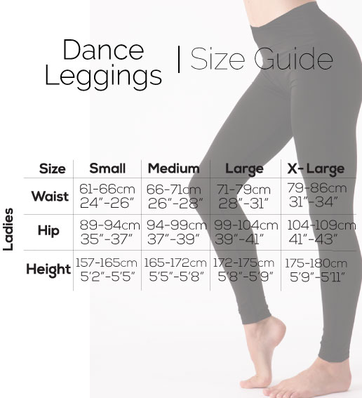 Size guide Silky Dance leggings