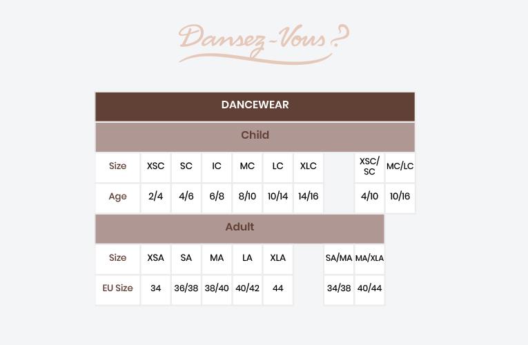 Size guide Dansez-Vous