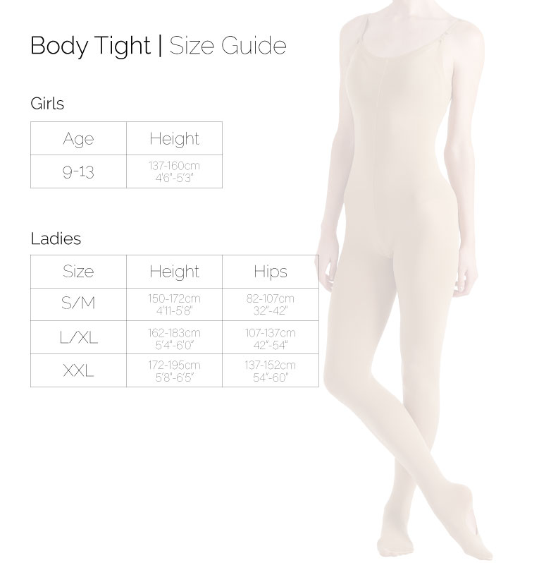 Body Tight size chart